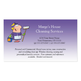 Cliente roxo Loy da limpeza da casa da empregada Cartão De Visita
