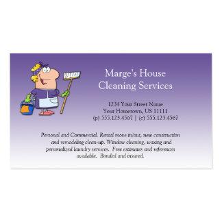 Cliente roxo Loy da limpeza da casa da empregada d Modelo Cartões De Visitas