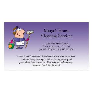Cliente roxo Loyalt da limpeza da casa da Cartão De Visita
