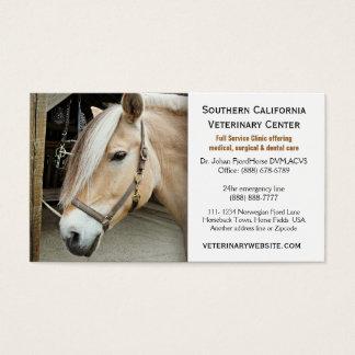 Clínica veterinária do veterinário do cavalo cartão de visita