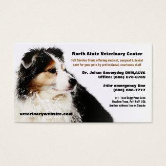 Clínica veterinária do veterinário do pastor cartão de visita