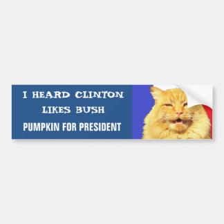 Clinton gosta de Bush? Adesivo Para Carro
