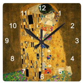 """Clock of """"The Kiss"""",No.02 Relógio Quadrado"""
