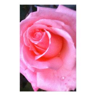 Close up cor-de-rosa romântico cor-de-rosa do amor papelaria