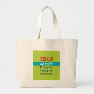Clube de leitura - codifique a palavra bolsas de lona