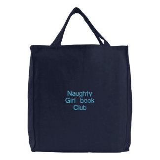 Clube de leitura impertinente da menina bolsa tote bordada