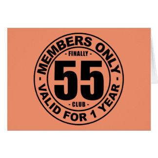 Clube finalmente 55 cartão comemorativo