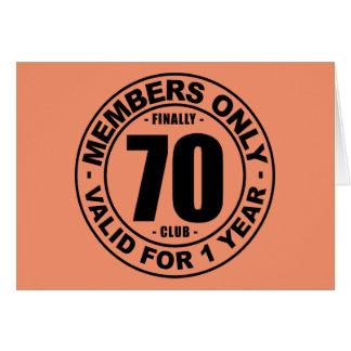Clube finalmente 70 cartão comemorativo