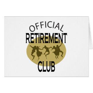 Clube oficial da aposentadoria cartão comemorativo