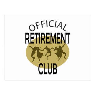 Clube oficial da aposentadoria cartão postal