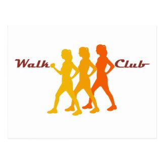 Clube retro da caminhada cartão postal