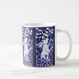 Cobalto azul e branco de Dedham do azulejo da Caneca De Café