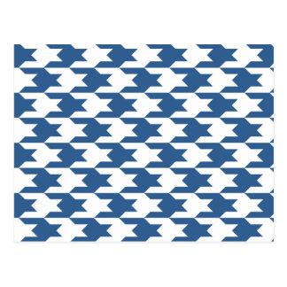 Cobalto brilhante do teste padrão 1 de Houndstooth Cartão Postal