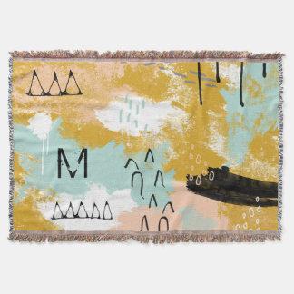 Cobertor A hortelã abstrata tribal da arte da paisagem cora