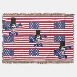 Cobertor Americano patriótico engraçado