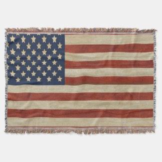 Cobertor Bandeira dos Estados Unidos da América do vintage