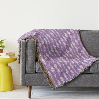 Cobertor Boho empluma-se o lance do teste padrão da arte da