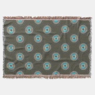 Cobertor Caleidoscópio cintilante de turquesa