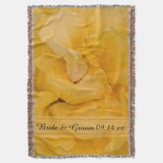 Cobertor Casamento floral do rosa amarelo