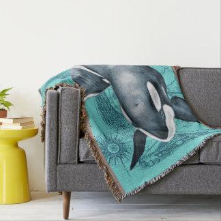 Cobertor Cerceta do mapa da orca