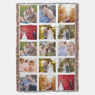 Cobertor Cobertura da foto do presente 15 da colagem da