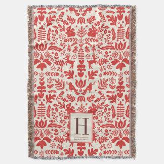 Cobertor Cobertura do feriado do monograma da arte popular