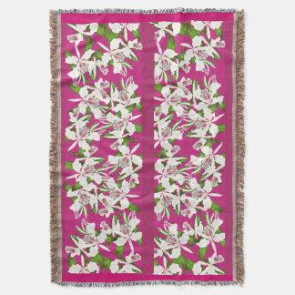 Cobertor Cobertura do lance das flores da orquídea