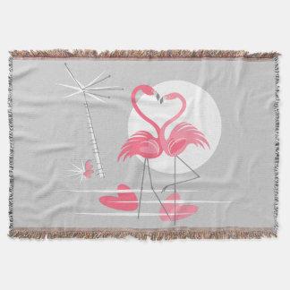 Cobertor Cobertura do lance do amor do flamingo