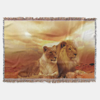 Cobertor Cobertura do lance do leão e da leoa