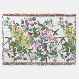 Cobertor Cobertura do lance dos animais das flores dos