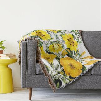 Cobertor Cobertura floral do lance das flores amarelas
