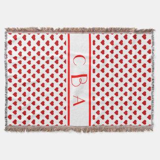 Cobertor Corações da polca do monograma
