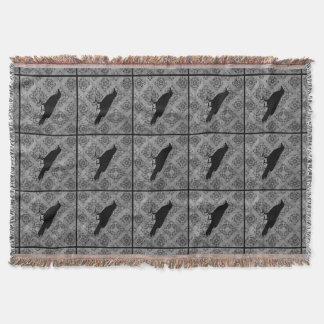 Cobertor Corvo preto gótico do corvo do Dia das Bruxas em