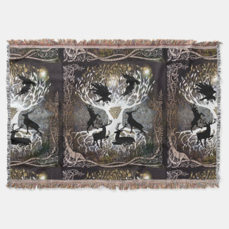 Cobertor Corvos da cobertura do lance de Odin
