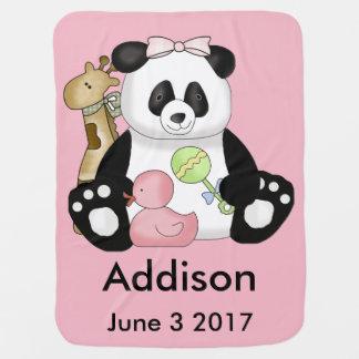 Cobertor De Bebe Addisons personalizou a panda