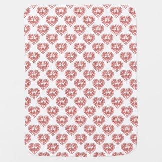 Cobertor De Bebe Amor Textured do flamingo do coração