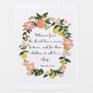 Cobertor De Bebe Arte inspirada cristã - 14:26 dos provérbio