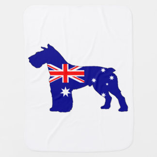 Cobertor De Bebe Bandeira australiana - Schnauzer