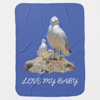 Cobertor De Bebe Casal da gaivota