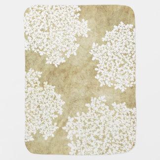 Cobertor De Bebe Casamento vintage floral branco