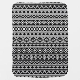 Cobertor De Bebe Cinza branco preto do teste padrão II asteca da