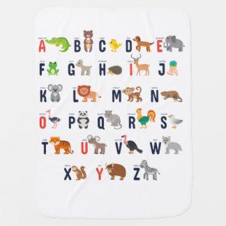 Cobertor De Bebe Cobertura animal do bebê do alfabeto do bebê