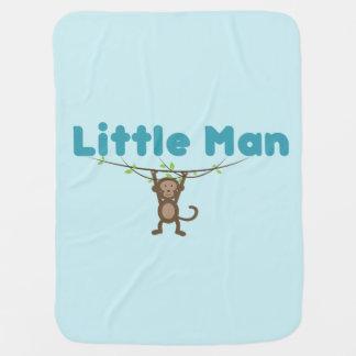 Cobertor De Bebe Cobertura do bebê com macaco