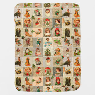 Cobertor De Bebe Cobertura do bebê do natal vintage