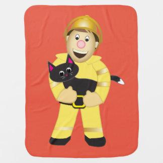 Cobertor De Bebe Cobertura do bombeiro