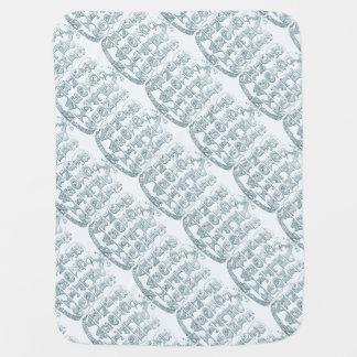 Cobertor De Bebe Cobertura modelada alfabeto do bebê azul do