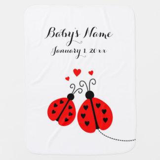 Cobertor De Bebe Cobertura personalizada joaninha do bebê