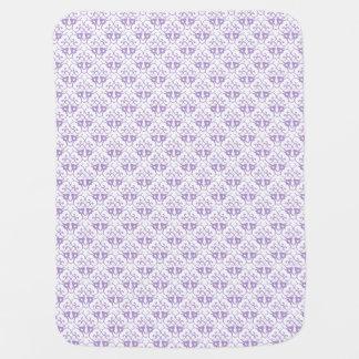 Cobertor De Bebe Cor damasco da lavanda unisex