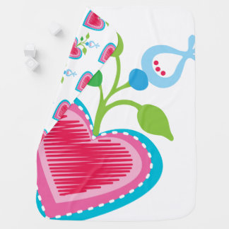 Cobertor De Bebe Coração holandês do jardim
