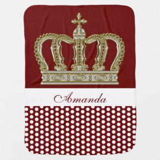 Cobertor De Bebe Coroa real dourada III + seu backgr. & ideias